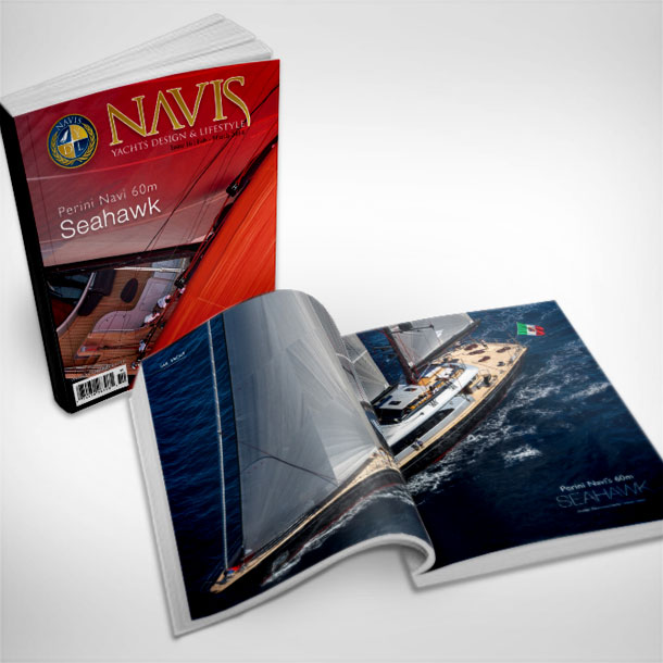 Editorial and magazine design for NAVIS Luxury Yacht Magazine