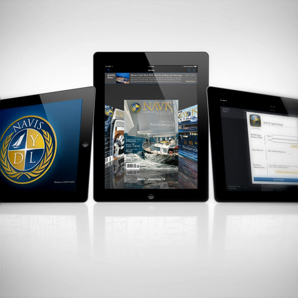 iPad application development and design for NAVIS Magazine