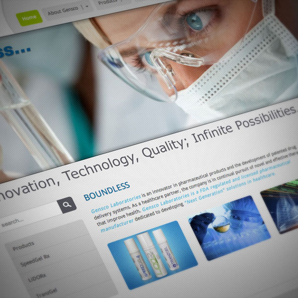 Medical Products Web Portals Design, Products Microsites